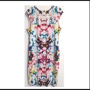 Bisou Bisou eyelet watercolor sleeveless dress 16